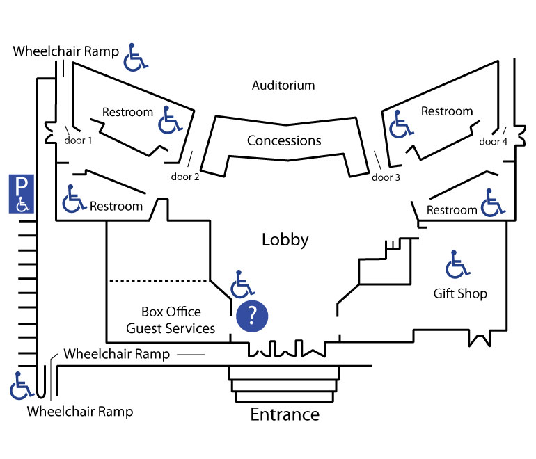 Alabama Theatre Interior Map